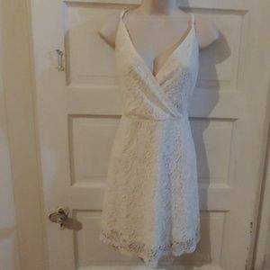 Mossimo Ivory Sleeveless Lace Dress M